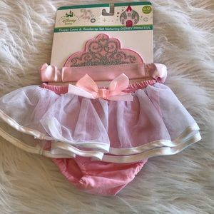 💥Princess diaper cover and headband